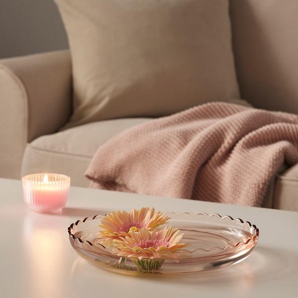SESAMFRÖN Plat décoratif, rose clair, 30 cm