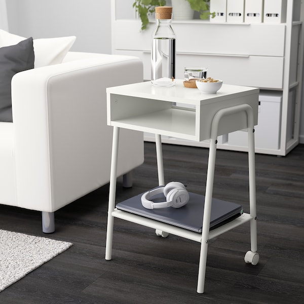 Setskog Table De Chevet Blanc 45x35 Cm Ikea