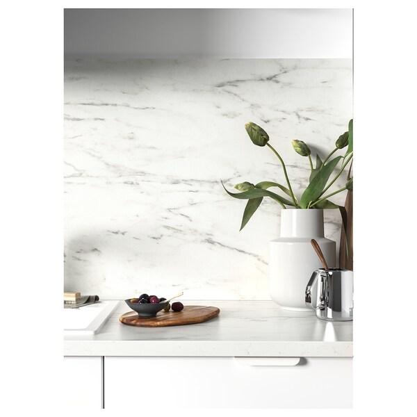 Sibbarp Revetement Mural Sur Mesure Blanc Marbre Stratifie Ikea