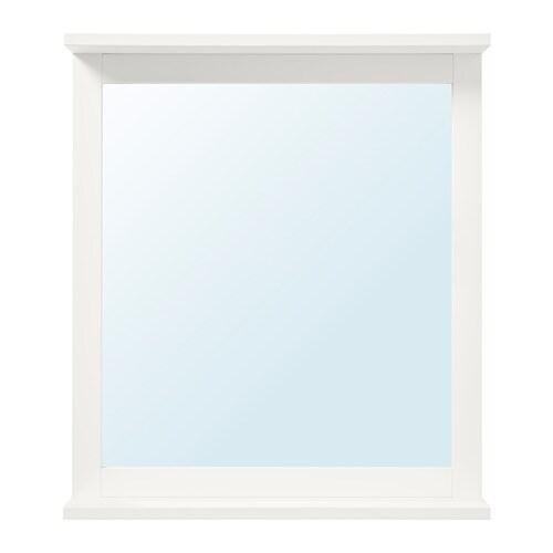 Silverån Miroir Avec étagère Blanc