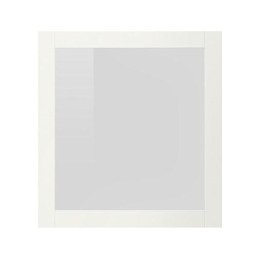 Sindvik porte vitr e blanc verre transparent ikea - Porte manteau blanc ikea ...