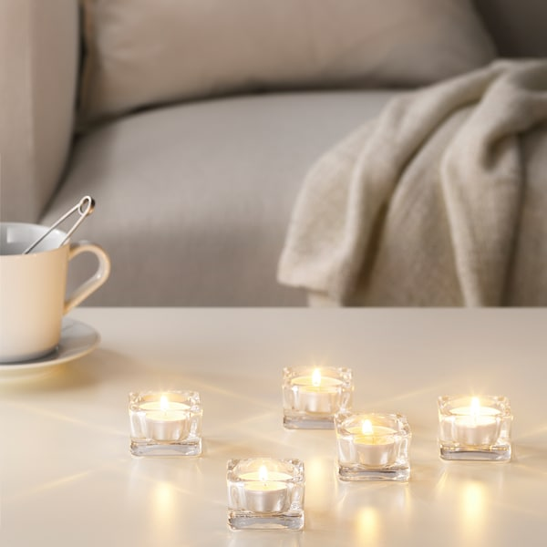 SINNLIG bougie parfumée vanille douce/naturel 38 mm 4 hr 30 pièces
