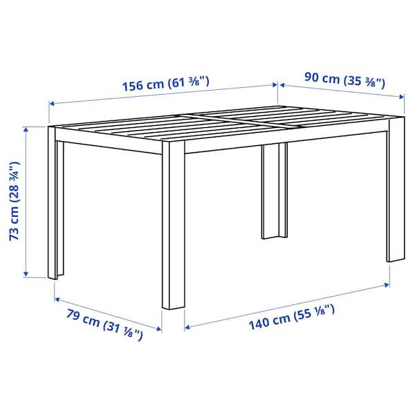 SJÄLLAND Table, extérieur, gris foncé/gris clair, 156x90 cm