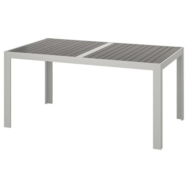 Table, extérieur SJÄLLAND gris foncé, gris clair
