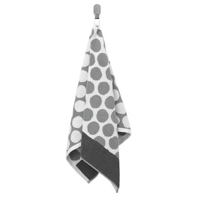 SJÖVALLA Serviette, anthracite/blanc, 50x100 cm
