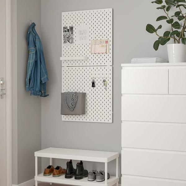 SKÅDIS Panneau perforé, blanc, 56x56 cm