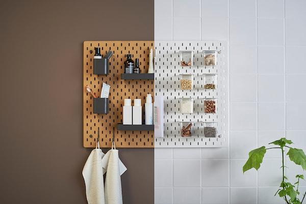 SKÅDIS Panneau perforé, bois, 36x56 cm