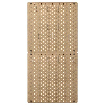 SKÅDIS Panneau perforé, combinaison, bois, 56x112 cm