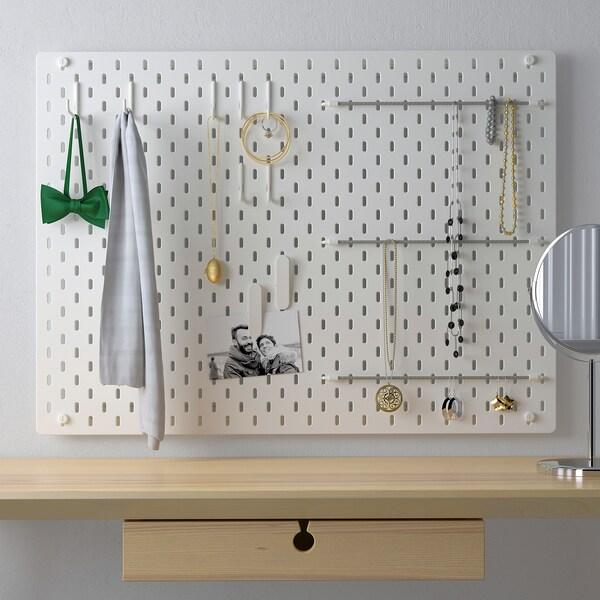 SKÅDIS Panneau perforé, combinaison blanc IKEA