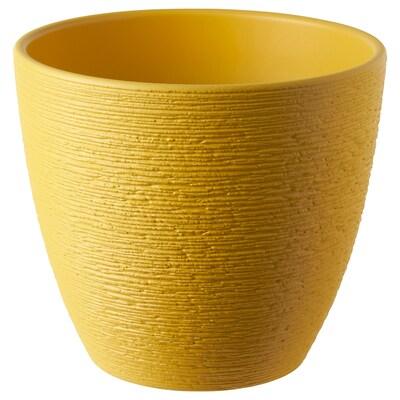 SKAKIG cache-pot jaune 15 cm 17 cm 15 cm