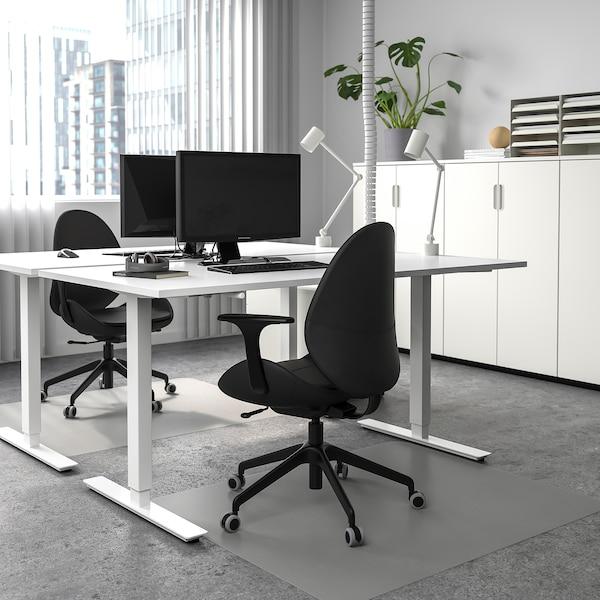 SKARSTA Bureau assis/debout, blanc, 160x80 cm