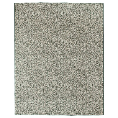 SKELUND Tapis tissé à plat, int/extérieur, vert-beige, 200x250 cm