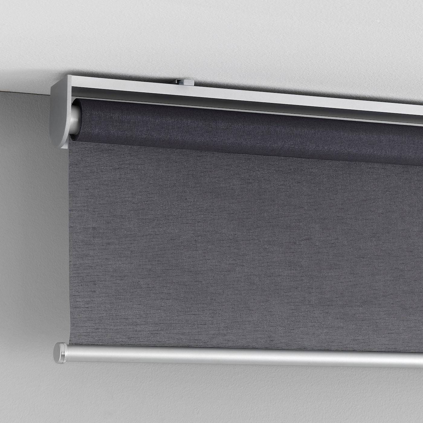 Rideau Gris Perle Ikea skogsklÖver store à enrouleur - gris 120x195 cm