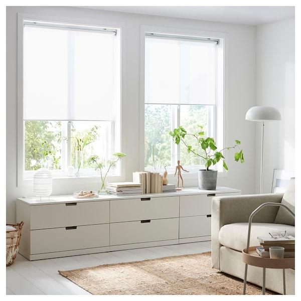 SKOGSKLÖVER Store à enrouleur, blanc, 120x195 cm