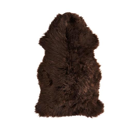 SKOLD Peau de mouton, brun foncé