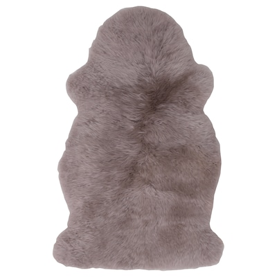SKOLD Peau de mouton, teinte, gris clair, 90 cm