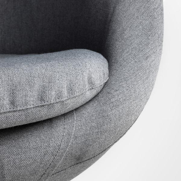 SKRUVSTA Chaise pivotante, Vissle gris