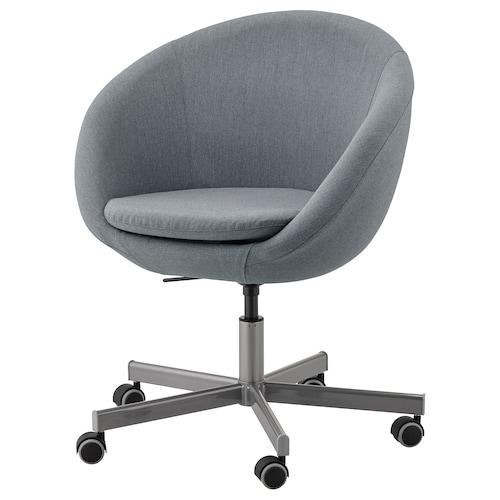 SKRUVSTA Chaise pivotante, Vissle gris IKEA