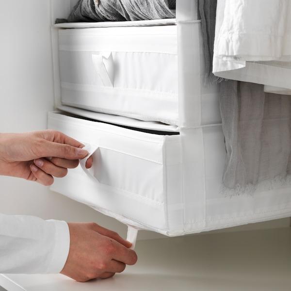 SKUBB Boîte à compartiments, blanc, 44x34x11 cm