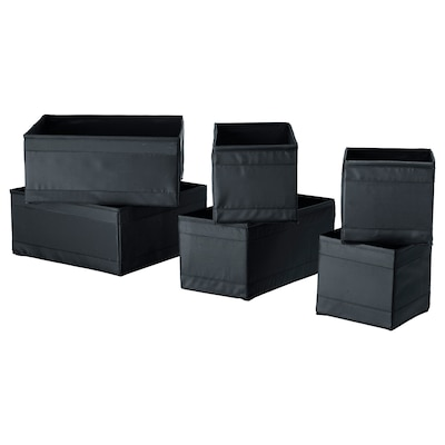 SKUBB rangement, 6 pièces noir