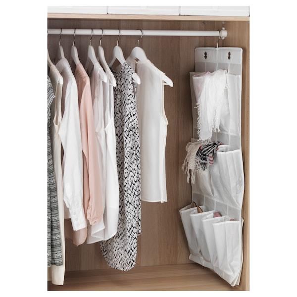 SKUBB range-chaussures suspendu 16 poches blanc 55 cm 7 cm 150 cm 115 cm