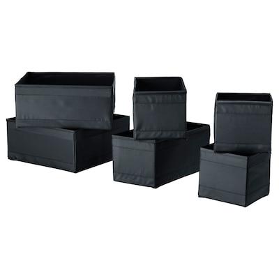 SKUBB Rangement, 6 pièces, noir