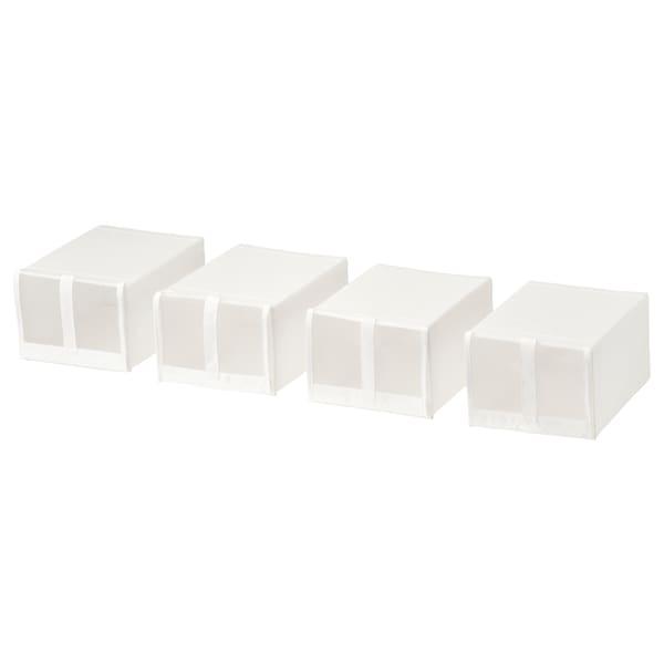 SKUBB boîte à chaussures blanc 22 cm 34 cm 16 cm 4 pièces