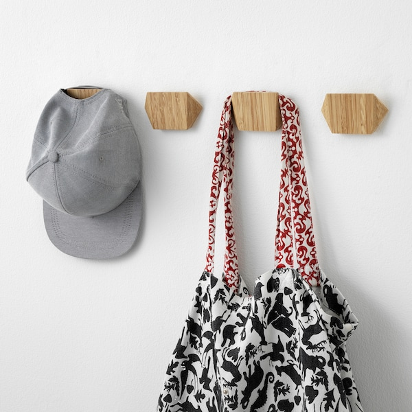 SKUGGIS Crochet, bambou, 9.8x5.7 cm