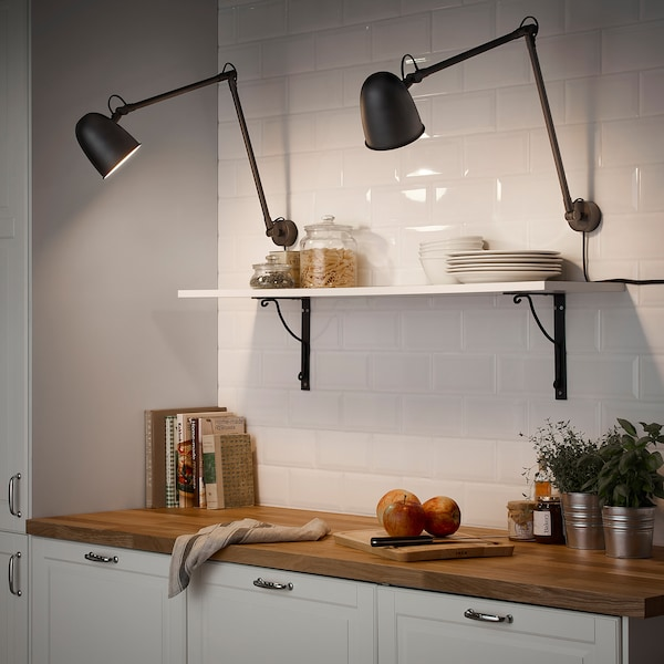 SKURUP lampe de travail/murale noir 8.6 W 94 cm 12 cm 2.0 m