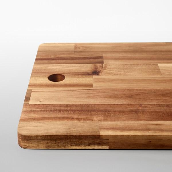 SMÅÄTA Planche à découper, acacia, 72x28 cm