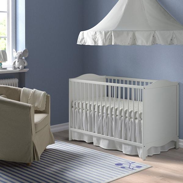 SMÅGÖRA lit bébé blanc 124 cm 66 cm 79 cm 60 cm 120 cm 20 kg 55 cm