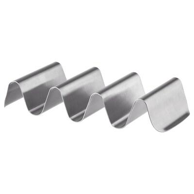 SMÅKALLT plat de présentation acier inoxydable 20 cm 9 cm