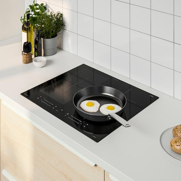 SMAKLIG Table de cuisson induction, IKEA 500 noir, 59 cm