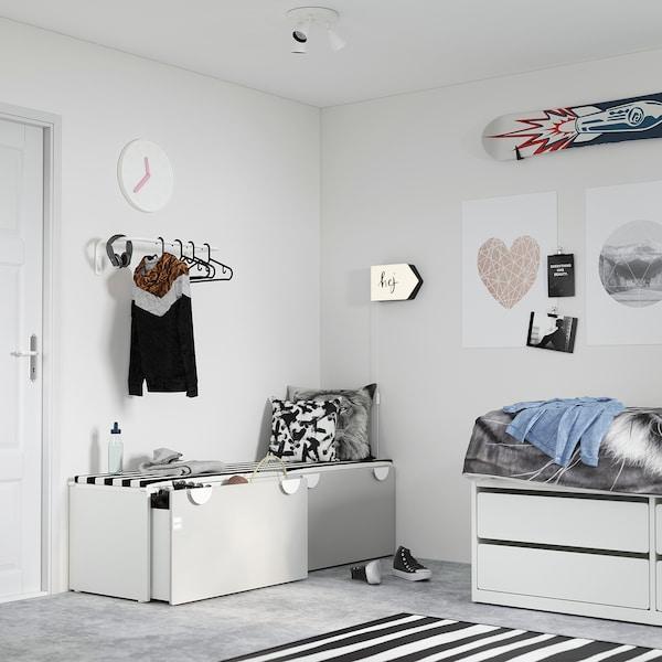 SMÅSTAD Banc avec rangement jouets - blanc/gris - IKEA