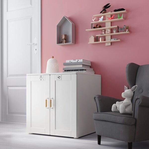 Smastad Platsa Meuble De Rangement Blanc Avec Cadre Avec 1 Tablette Ikea