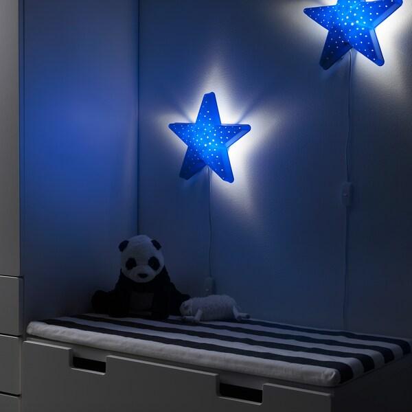 SMILA STJÄRNA Applique, bleu, 28 cm