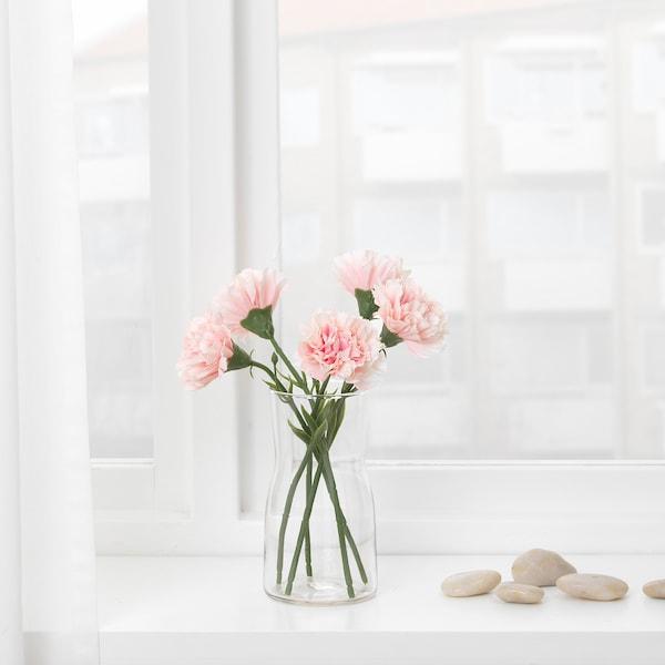 SMYCKA Fleur artificielle, oeillet/rose, 30 cm