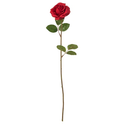 SMYCKA Fleur artificielle, rose/rouge, 52 cm