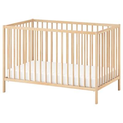 SNIGLAR Lit bébé, hêtre, 60x120 cm