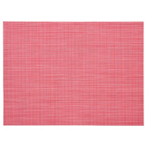 SNOBBIG set de table rouge clair 45 cm 33 cm