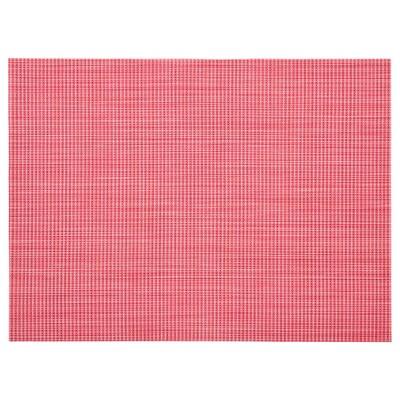 SNOBBIG Set de table, rouge clair, 45x33 cm