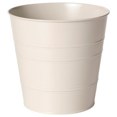 SOCKER Cache-pot, intérieur/extérieur beige, 24 cm