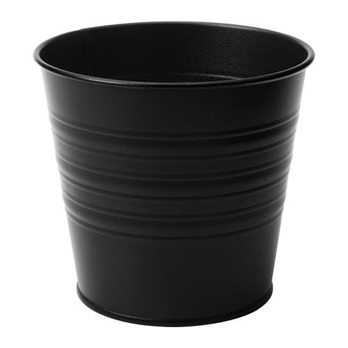 Socker cache pot int rieur ext rieur noir 32 cm ikea for Cache pot exterieur