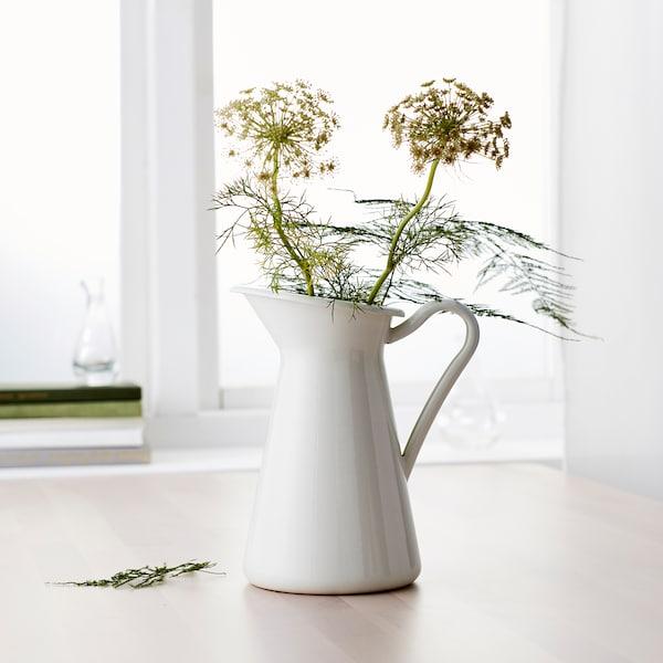SOCKERÄRT Vase, blanc, 22 cm