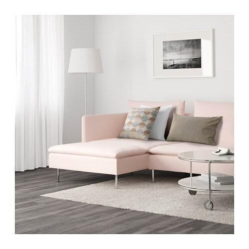 SÖDERHAMN Canapé d'angle, 4 places - Samsta rose clair - IKEA