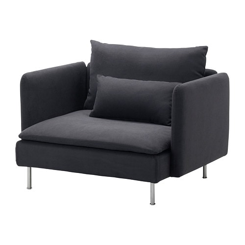s derhamn fauteuil samsta gris fonc ikea. Black Bedroom Furniture Sets. Home Design Ideas