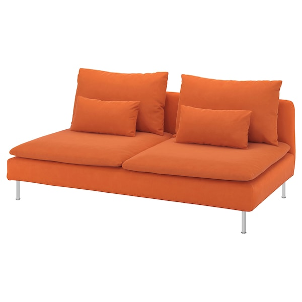 SÖDERHAMN module 3 places Samsta orange 186 cm 99 cm 83 cm 186 cm 48 cm 40 cm