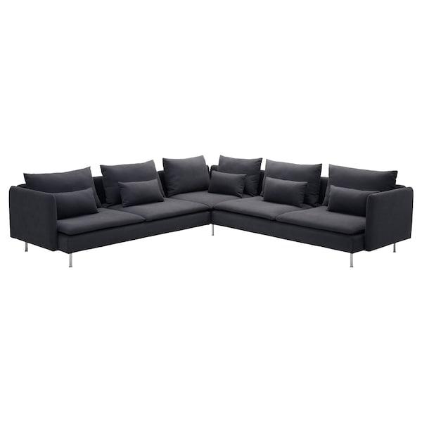 SÖDERHAMN canapé d'angle, 6 places Samsta gris foncé 83 cm 69 cm 99 cm 291 cm 291 cm 14 cm 70 cm 39 cm
