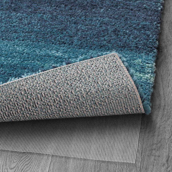 SÖNDERÖD Tapis, poils hauts, bleu, 170x240 cm