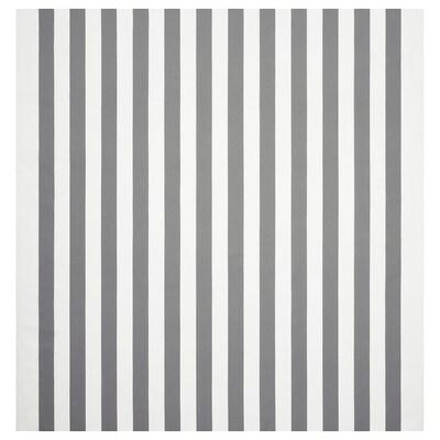 SOFIA Tissu au mètre, à rayures larges/blanc/gris, 150 cm
